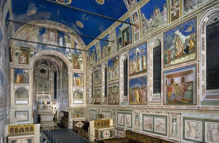 Padova Italy sights chapel scroveli murals Giotto chapel del Arena